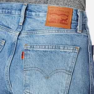 Levi's Orange Tab High-Rise Utility Shorts